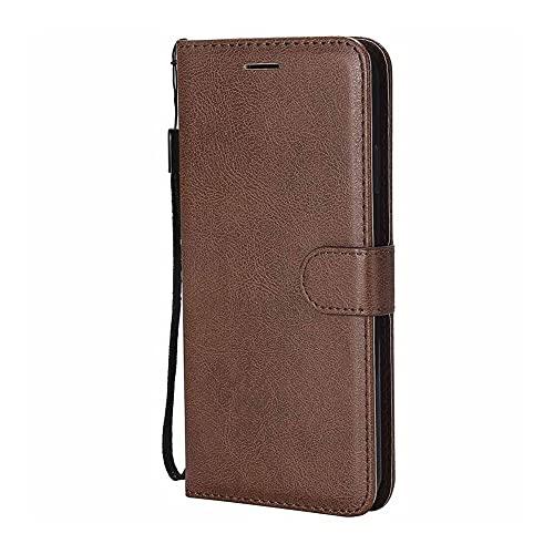 HHF-1 1fortunate Cajas del teléfono para Sony Xperia 10 8 xA2 xz4 xz3, Cartera de Billetera de Cuero para Sony Xperia Z5 Compact XA XA1 Ultra L3 (Color : Marrón, Material : For Sony Z5 Compact)