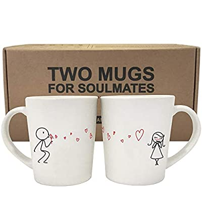 His and Her Coffee Mugs as Valentines Day Gift for Girlfriend