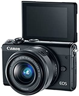 Canon EOS M100 Kit (EF-M15-45 IS STM) Mirrorless Camera, Black