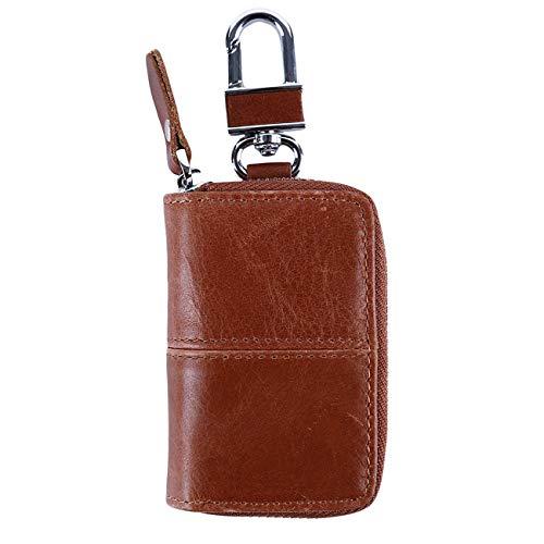 Bigsweety Mne Retro Autoschlüssel Etui Halter Pu Auto Smart Keychain Münze Keyfob Wallet (Nähen)
