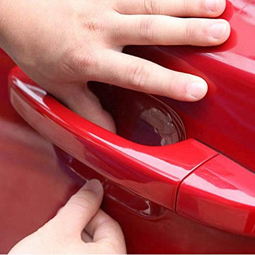 Voroly 10 Pcs Car Door Handle Scratches Protective Films Clear Side Sticker Scratches Car Door Protector Films