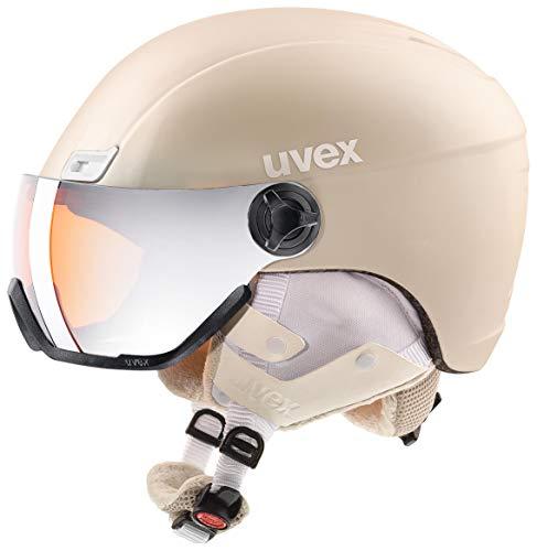 uvex Unisex– Erwachsene, hlmt 400 visor style Skihelm, prosecco met mat, 53-58 cm
