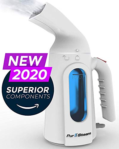 PurSteam Handheld Steamer for Clothes - Portable Garment Wrinkle Remover for Travel and Home Use - Fast Heating with Auto Shut Off and Leak Proof Design [Upgraded Version]