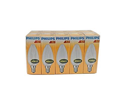 Philips 10x Luz Bombilla Vela–60W-E14–mate
