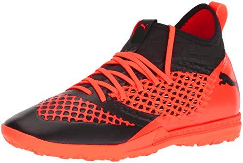 PUMA Men's Future 2.3 Netfit TT Soccer Shoe, Black-Shocking Orange, 9 M US