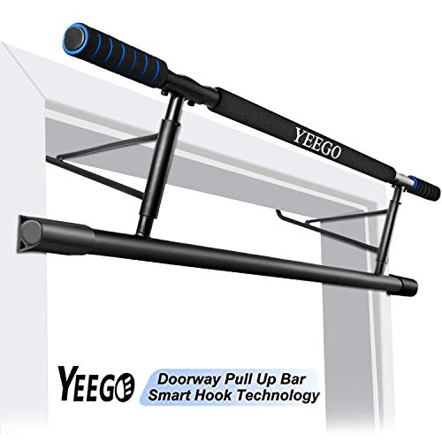 2019 Pull Up Bar Doorway No Crews, YEEGO USA Original Patent, USA Designed, USA Warranty Smart Hook Technology Home Exercise (Blue)