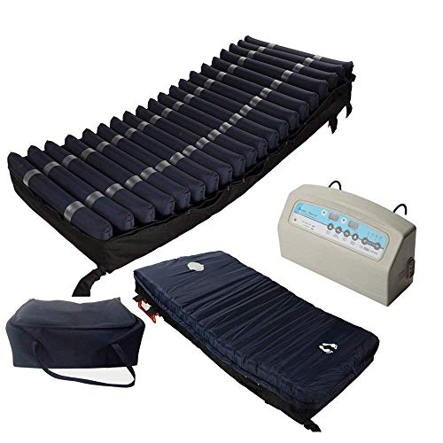 Medical MedAir Low Air Loss Mattress Replacement System with Alarm, 8' with Quilted Cover Fully Digital with Remote Control