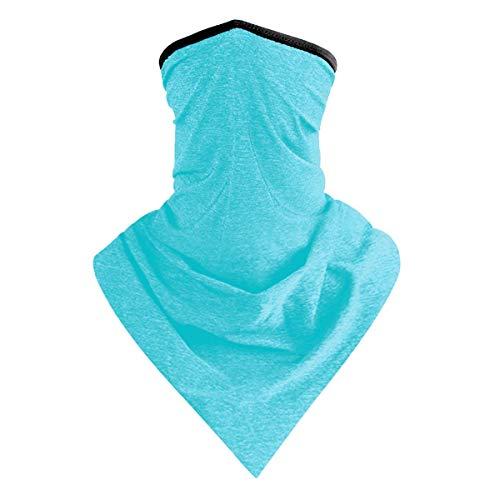 IBAKOM - Bandana para hombres y mujeres al aire libre, braga para el cuello, polainas, pañuelos, pasamontañas multifuncional azul claro Talla única