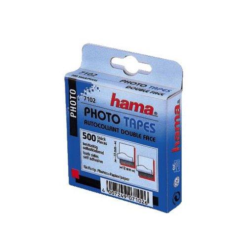 Hama Fototapes (2-seitig selbstklebend, Spenderbox, säurefrei, lösemittelfrei, geeignet für Alben) 500 Stück