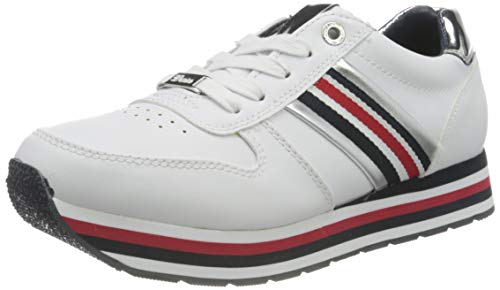 TOM TAILOR Damen 1195501 Sneaker, Weiß, 38 EU