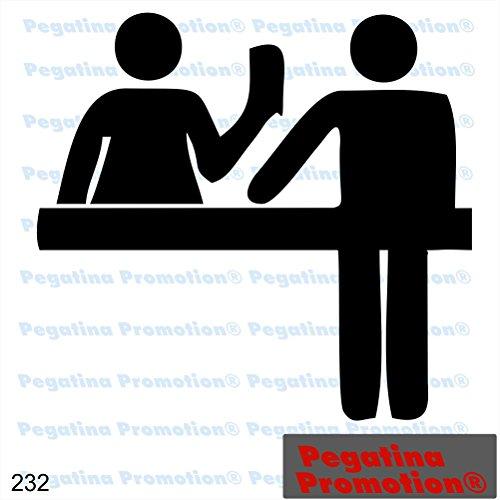 Piktogramm Typ 232 Icon Symbol Zeichen Zoll Flughafen Grenze Aufkleber Sticker ca.15cm von Pegatina Promotion® Aufkleber mit Verklebehilfe von Pegatina Promotion® ohne Hintergrund geplottet
