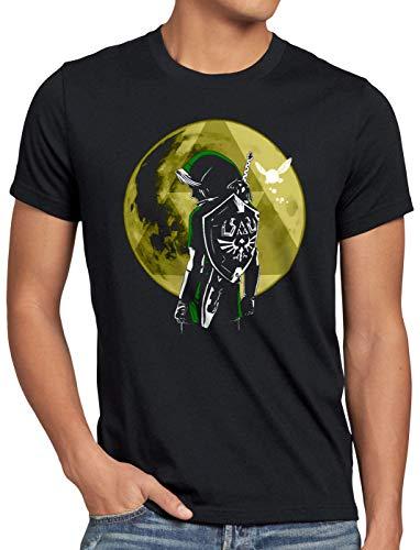 style3 Link Triforza Luna T-Shirt da Uomo Switch Principessa Awakening, Dimensione:S