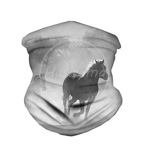N/ A Horse sjaal halsmanchet bandana microvezel zonwering hals tube ring sjaal mannen hoofddeksel armband voor vissen motorrijden
