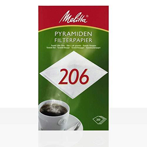 Melitta Pyramiden Filterpapier Filtertüten Pa SF 206 G, 200 Stk