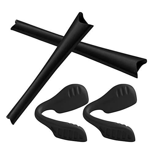 SEEABLE Premium Replacement Earsocks Nosepads Rubber Kit for Oakley Radar Series Sunglass - Black