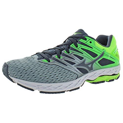 Mizuno Men's Wave Shadow 2 Running Shoe, Trade Winds/Green Gecko, 10 D US