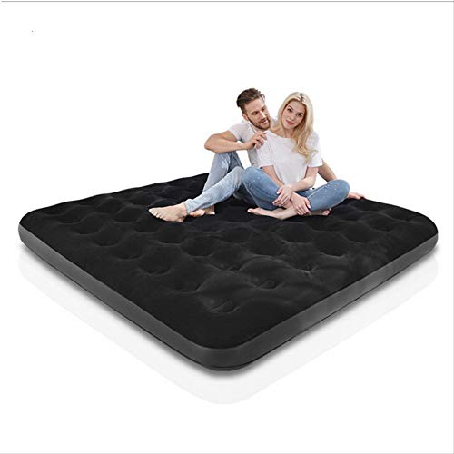 dingwen New Camping mat Inflatable mattress inflatable double bed people household gas filled outdoor bed portable air cushion bed 203x183x22cm