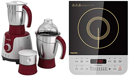 Philips HL 7720 750-Watt Mixer Grinder + Philips Viva Collection HD4928/01 2100-Watt...