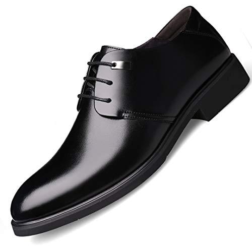 Zapatos de Vestir para Hombre Zapatos de Punta Puntiaguda con Cordones Negro...