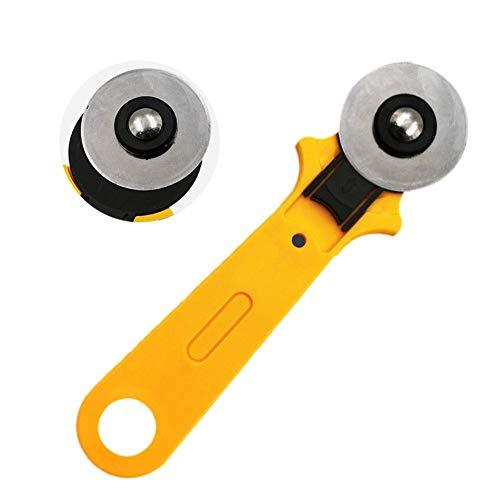 popchilli 45mm Roterende Cutter Kookplaat Doek Snijden Handmatige Patchwork Tool Lederen Behang Ronde Roller Cutter Set Met Antislip Handvat