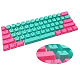 CJXSP PBT 61 Keycaps 60 Percent, OEM Profile Gaming Keycaps Cherry MX RGB Backlit Keycap Set for 60 Percent Mechanical Keyboard Anne Pro 2/Poker/RK61/GK61/Ganss Alt61 (Eriki)