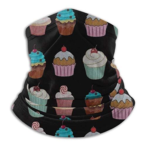 MosesYong Originals Cupcakes Unisex-Schal Doppelschichtiger Halswärmer-Schal Schals Schalhaube Sonne UV-Wind Staubschutz