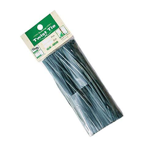 Fengshunte Bridas para cables de plantas de jardín, multiusos, revestidas de plástico, para el hogar, la oficina y el jardín (150 unidades, 15 cm)