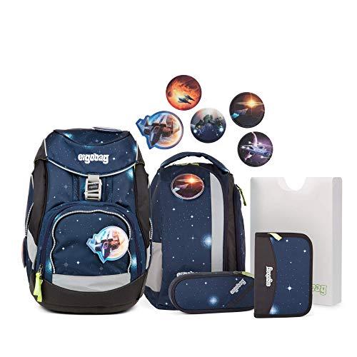 Ergobag Pack KoBärnikus Glow - Silber, ergonomischer Schulrucksack, Set 6-teilig, 20 Liter, 1.100 g, Silber