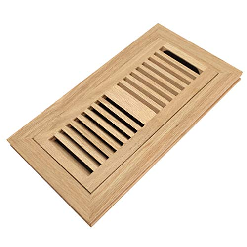 oak flush mount floor register - 1
