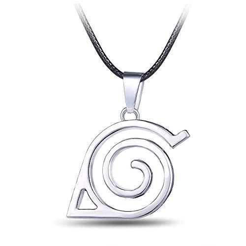 Lackingone Anime Naruto Konoha Logo Anhänger Jewelry Schmuck Halskette für Cosplay Logo