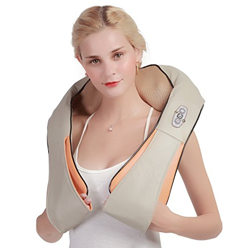 Shiatsu Neck and Back Massager with Heat Portable Electric Massager for Neck Back Shoulders and Legs Full Body Deep Kneading Massager at Home Car Office  Ophanie