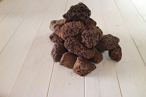 4KG Lava Rocks for Gas BBQ, Fire pit, Aquarium, Chiminea (4KG)