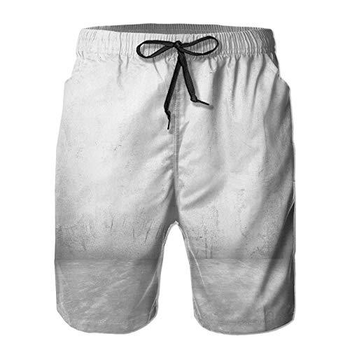 Hombres Verano Secado rápido Pantalones Cortos Playa Viejo Cuarto vacío Muro de...