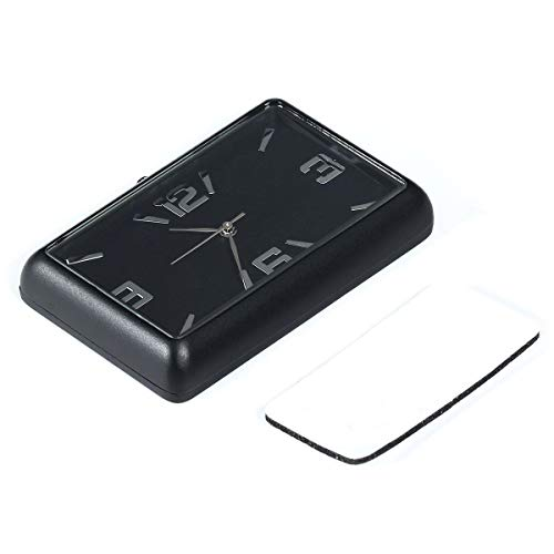Perfuw Auto Quarzuhr, High Accuracy Dashboard Digitaluhren, Car Kit Elektronische Uhr und Mini Auto Rechteck Analog Quarzuhr, Geeignet für Auto, Haus, Studie, Dekoration