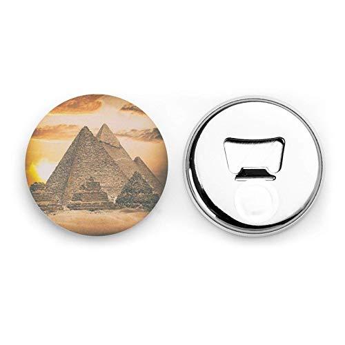 Vintage Grande piramide egizia Magneti da frigorifero Apribottiglie da birra Bottiglia di coca cola Vino Soda Apribottiglie Magnete da cucina Apribottiglie Magnetico 2 pezzi