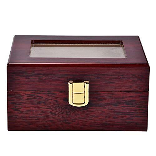 Caja de Reloj de Cuero PU con 3 Ranuras, práctica Caja de Almacenamiento de exhibición de Reloj portátil, Caja organizadora de Reloj para Oficina o Tienda de Relojes