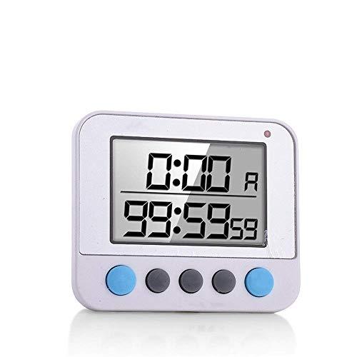 genral Timer da Cucina Digitale Doppio Display Timer da Cucina Digitale Conto alla rovescia Cronometro Timer da Cucina per Cucinare Doccia Bagno Timer Vita Bambino (Colore: Blu, Dimensioni: 8,1x6,9