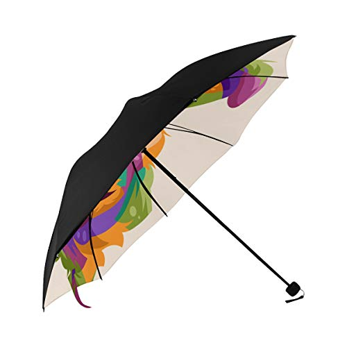 Boys Umbrella Compact Companion Dog Pop Art Underside Printing Compact Umbrella Umbrella Stroller Travel Bag Best Sun Umbrella With 95% Uv Protection For Women Men Lady Girl