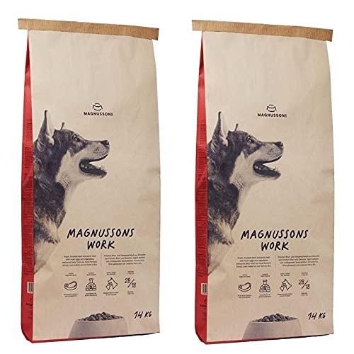 Magnusson Work Trockenfutter für Hunde 2 x 14 kg