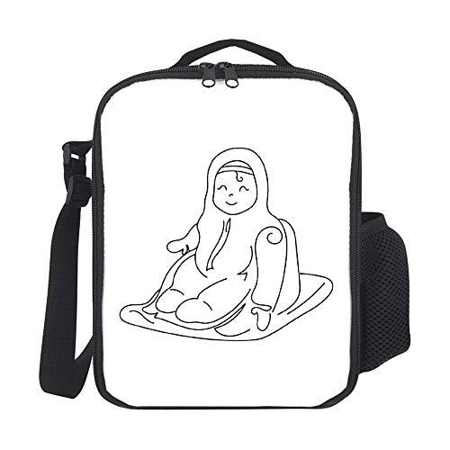 Bolsas de almuerzo aisladas para niños, con portabotellas para bebé, en trineo de moda, gran lonchera para hombres, adultos, reutilizable, para el trabajo, escuela, picnic