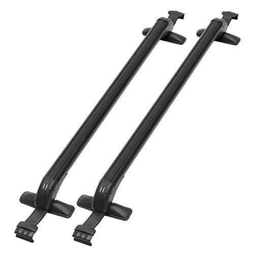 ZFFSC Cross Bars Dakdragers Paar Universele Dakdrager Cross Bars Bagage W/Rubber Pakking Voor 4dr Auto