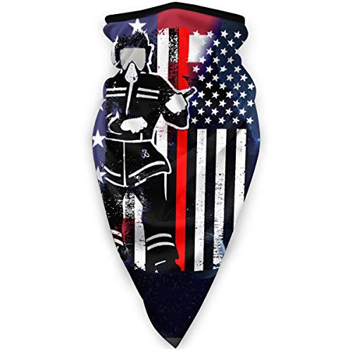Lzz-Shop Dünne rote Linie Feuerwehrmann Axt amerikanische Flagge winddichter Sportschal Outdoor Shield Stirnbänder Bandana Sturmhaube