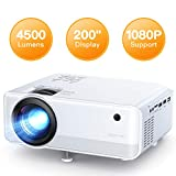 Projector, APEMAN 4500 Lumen 1080P Supported Mini Projector, 200'' Display 50000 Hrs LED