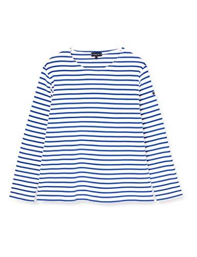Armor Lux Damen T-Shirt Gestreift, Mehrfarbig (Dw5 Mehrfarbig/Étoile), 44 (Herstellergröße: 4)