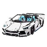 Dellia Bloques de construcción para coche, 3700 piezas, 1:8, para Lamborghini Aventador SVJ, técnica, coche de carreras, con bloques de sujeción, compatible con Lego Technic