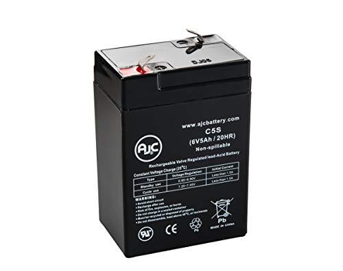 Batterie JohnLite SL0096 6V 5Ah Lampe de Secours - Ce Produit est Un Article de Remplacement de la Marque AJC®