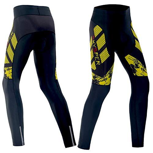 SKYSPER Pantalones Largos de Ciclismo para Hombre Pantalones de Ciclismo Culote Bicicleta...
