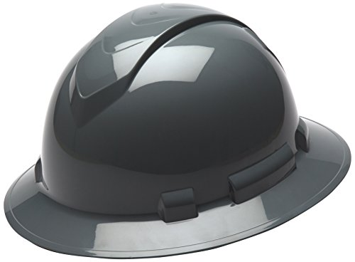 Pyramex Ridgeline Full Brim Hard Hat, 4-Point Ratchet Suspension,...