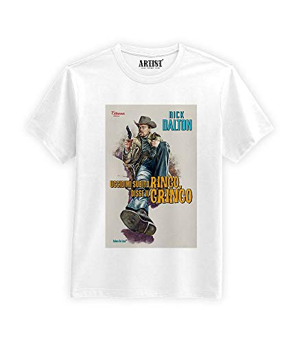 T-Shirt C'era Una Volta ad Hollywood Fan Art Spaghetti Western Rick Dalton V.2 (L)