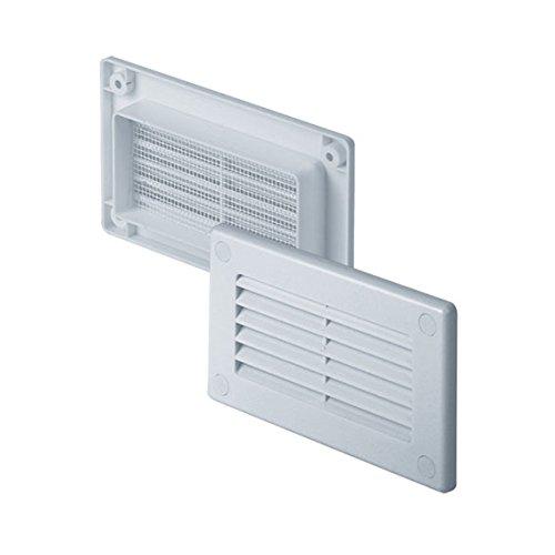 Awenta grille d'aération/moustiquaire carré 75 x 150 mm blanc kP75